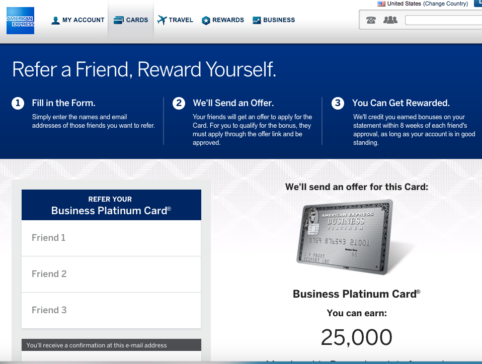 100K AMEX Business Platinum: Refer Friends for Up to 55K
