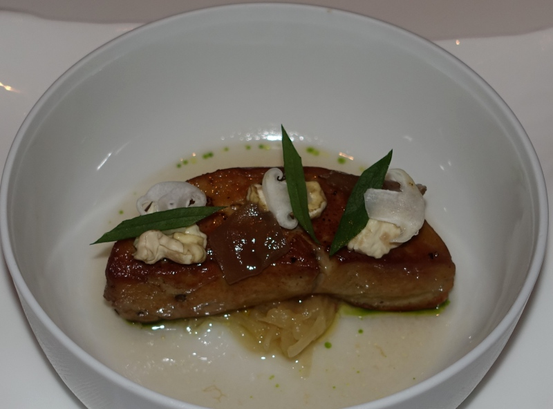 Pan Seared Foie Gras with Green Plums, Le 1947 Review