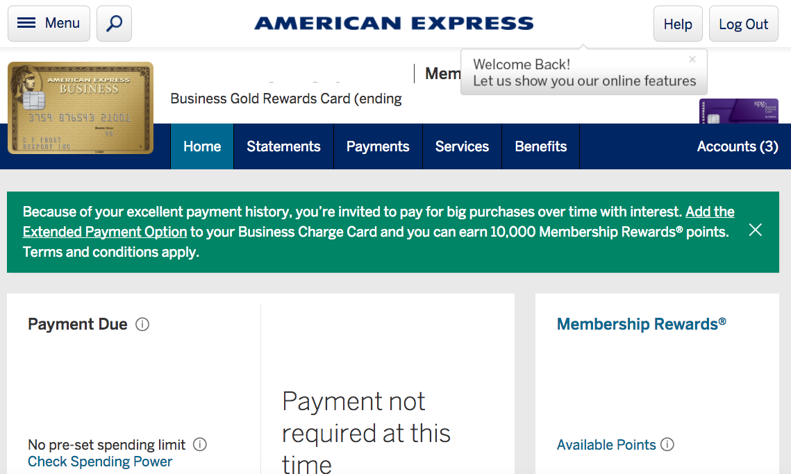 Earn 10,000 Bonus AMEX Membership Rewards Points for Enrolling in Extended Payment Option