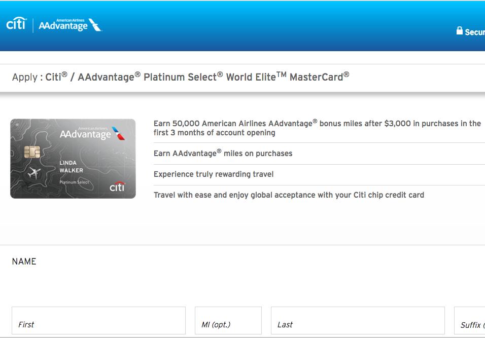 50K Citi AAdvantage Platinum Select Without 24 Month Language