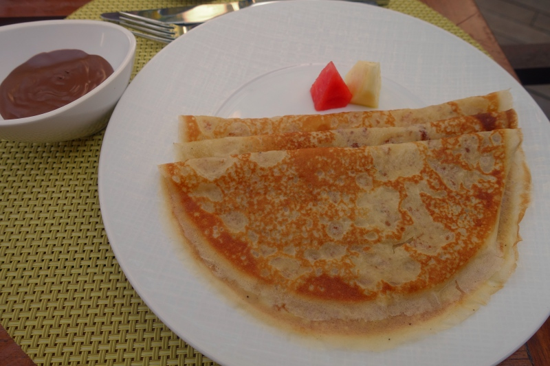 French Crepes with Nutella, Cheval Blanc Randheli Review