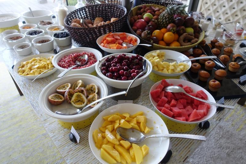 Breakfast Fruit, Cheval Blanc Randheli Review, Maldives