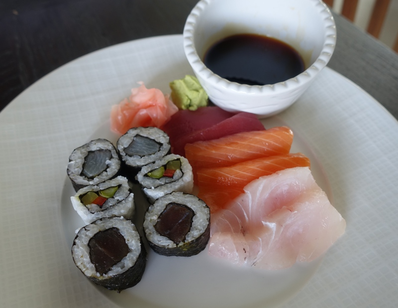 Sushi and Sashimi, Cheval Blanc Randheli Breakfast Review