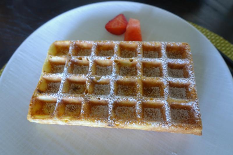 Waffles, Cheval Blanc Randheli Breakfast Review