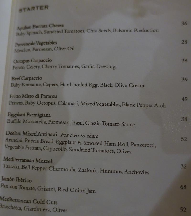 The Deelani Menu-Appetizers