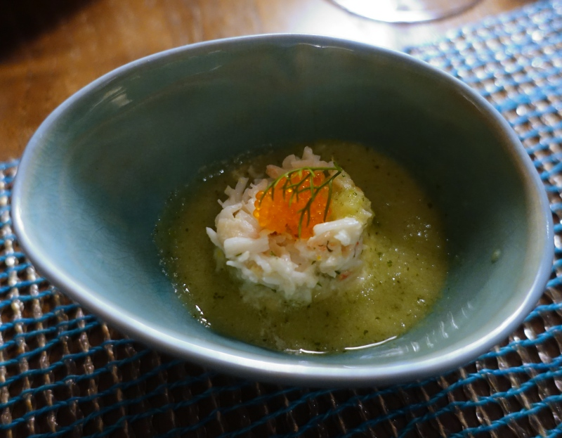 Amuse Bouche with Fresh Crab, The Deelani, Cheval Blanc Randheli Review