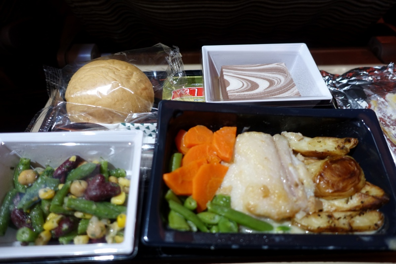 Etihad Economy Class Meal, Male Maldives to Abu Dhabi Review