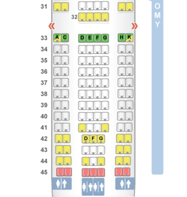 Etihad Economy Seat Map A330-200 Review