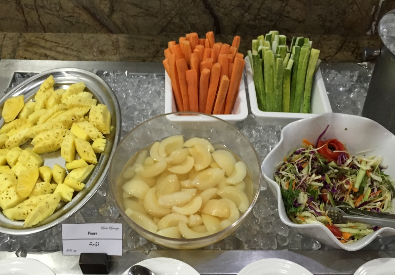Vegetables and Fruit, Male Airport Business Class Lounge Review
