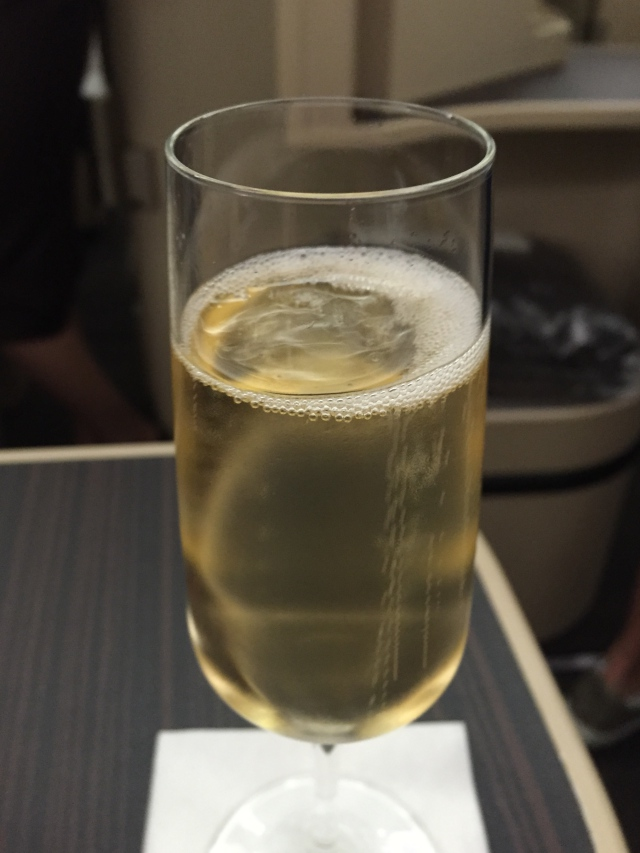 Champagne Pre-Flight Drink, Etihad Business Class Review, A330-200
