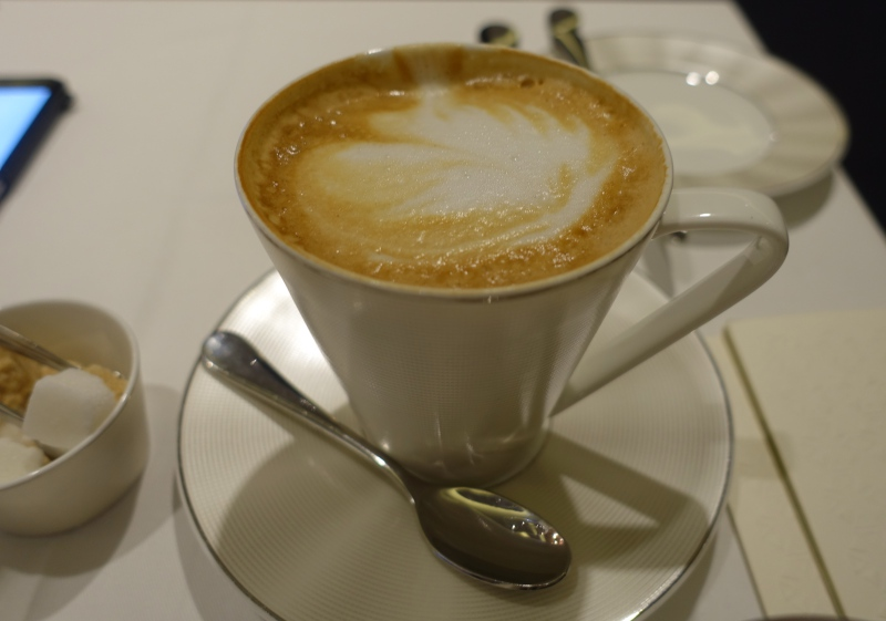 Cappuccino, Etihad First Class Lounge Abu Dhabi Review