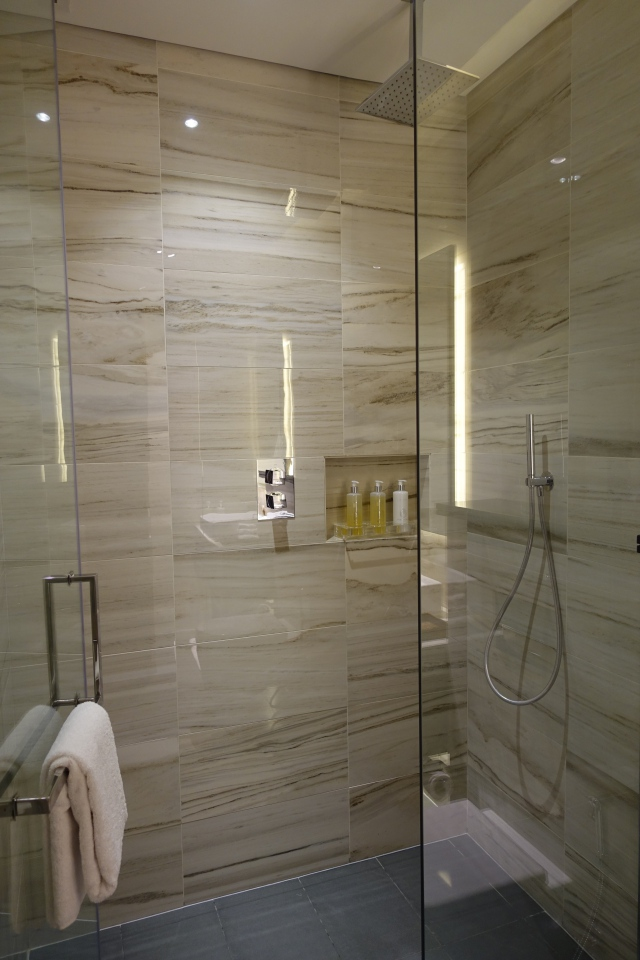 Fitness Center Shower, Etihad First Class Lounge AUH Review