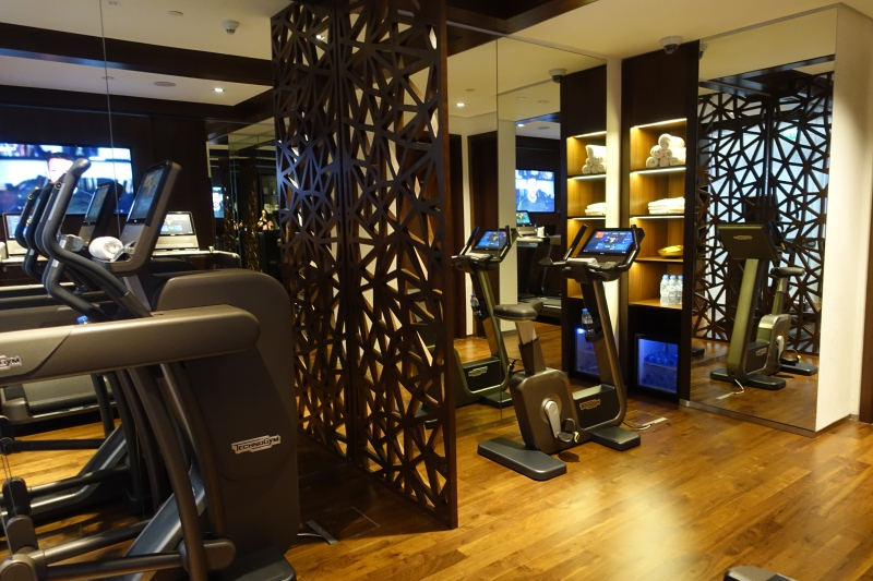 Fitness Center, Etihad First Class Lounge Abu Dhabi Review