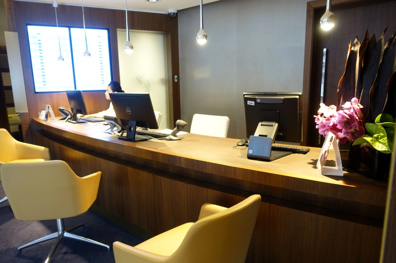 Etihad First Class Lounge AUH Reception/Concierge