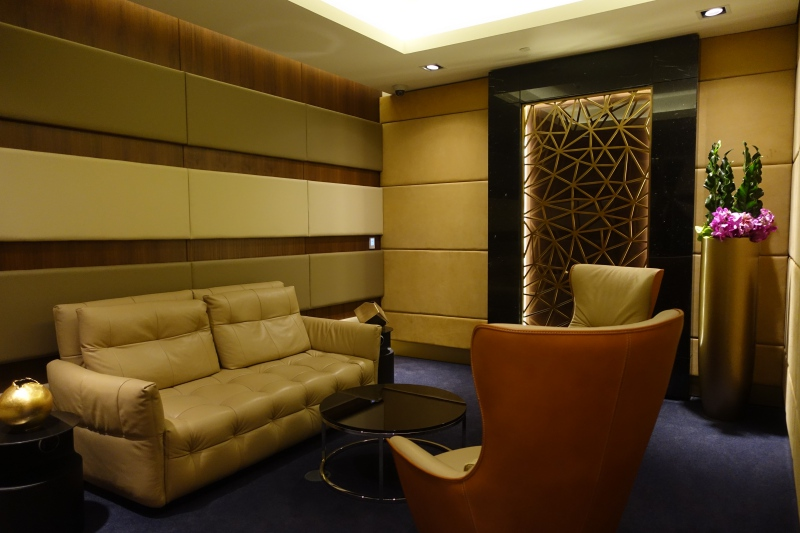 The Residence Seating Area, Etihad First Class Lounge Abu Dhabi Review