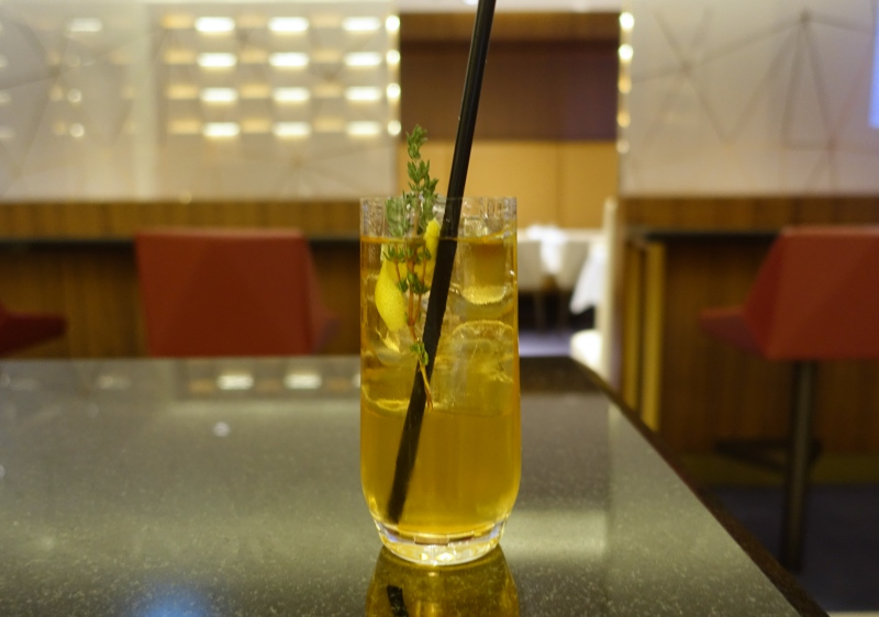 Winglet Mocktail, Etihad First Class Lounge Abu Dhabi Review