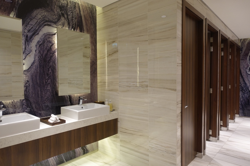 Women's Bathroom, Etihad First Class Lounge Abu Dhabi Review