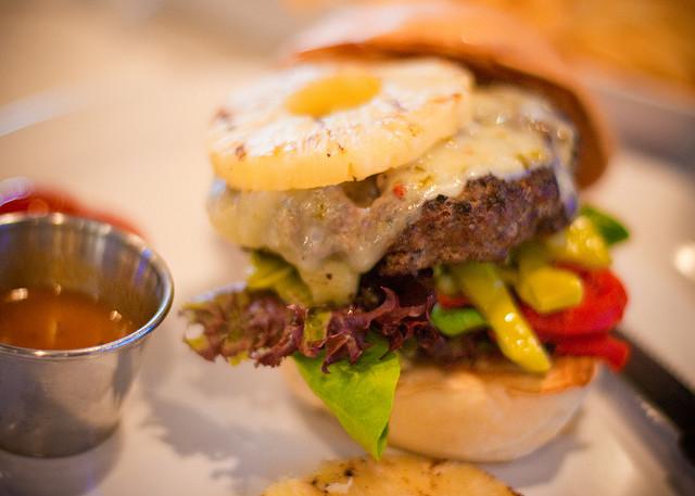 A burger at The Counter
