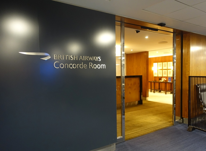 Entrance, British Airways Concorde Room New York JFK