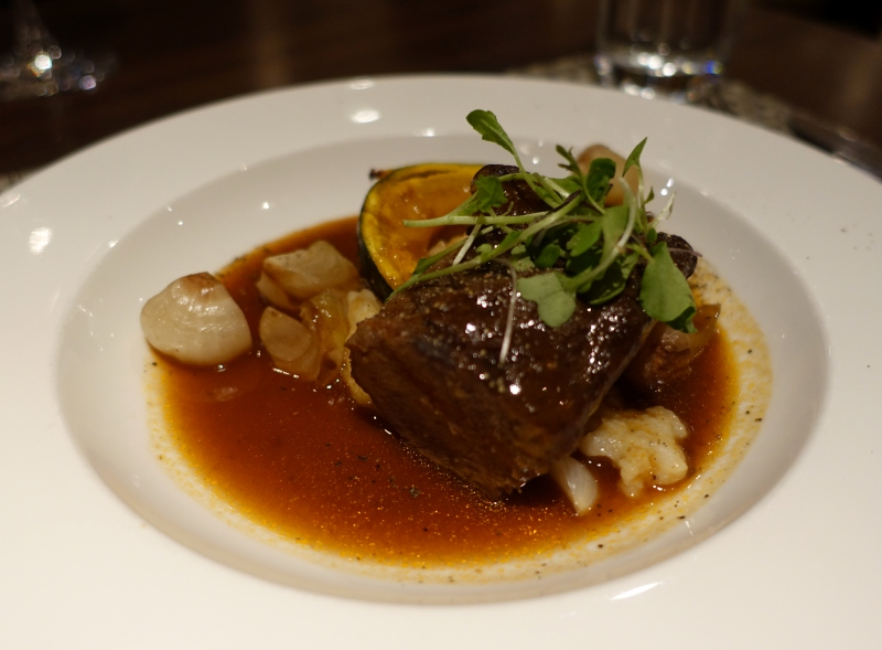 Beef Short Ribs, British Airways Concorde Room New York JFK Review