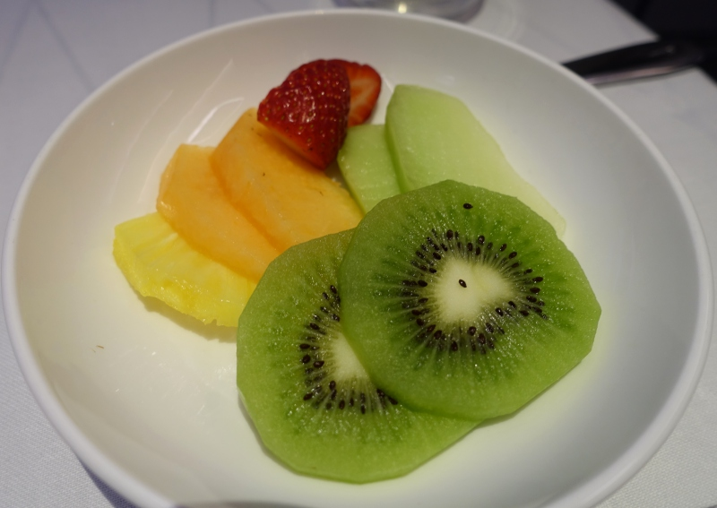Fresh Fruit, British Airways First Class Review