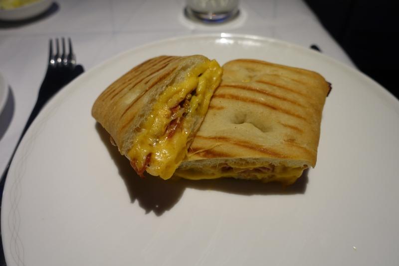 Breakfast Sandwich, British Airways First Class Review