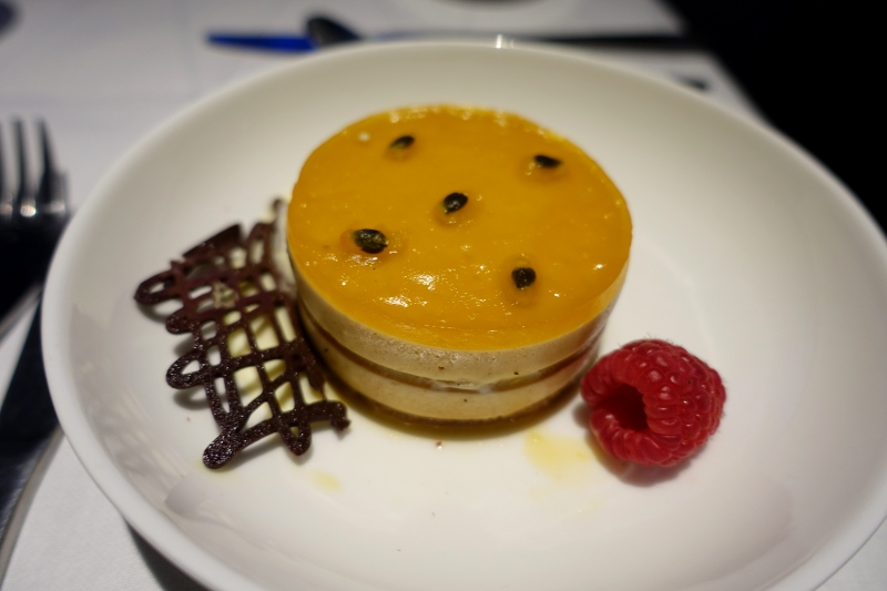Hazelnut Passion Fruit Tart, British Airways First Class Review
