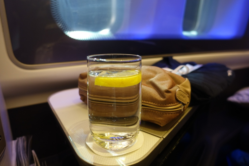 Pre-Flight Drink, British Airways First Class Review