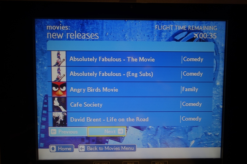 British Airways Film Selection