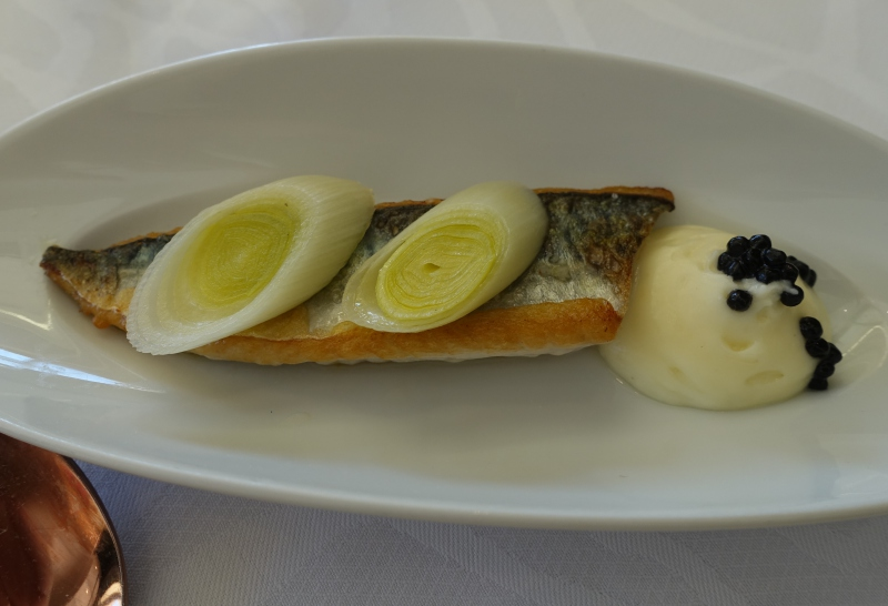 Roasted Mackerel with Truffle Mashed Potatoes, Le Park 45 Review, Cannes