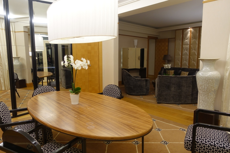 Prestige Suite Dining Room, Grand Hyatt Cannes Martinez Review