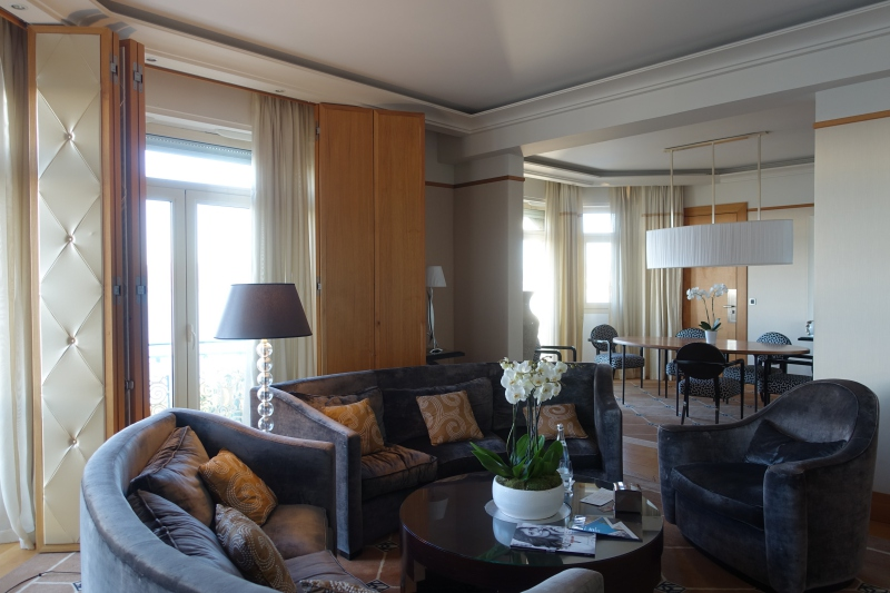 Prestige Suite Living Room, Grand Hyatt Cannes Martinez Review