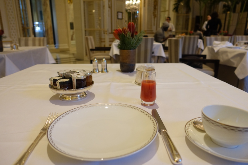 Breakfast at The Peninsula Paris