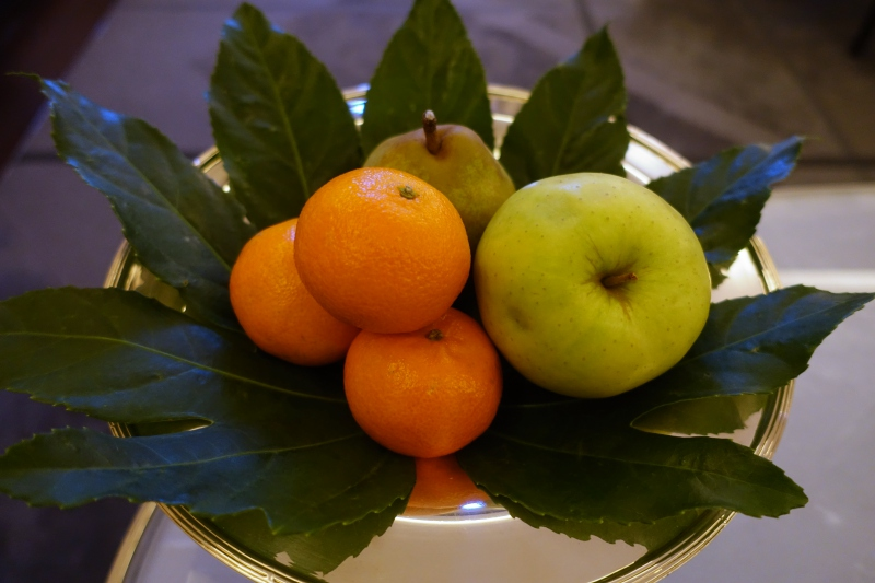 Fruit Welcome Amenity, The Peninsula Paris Review