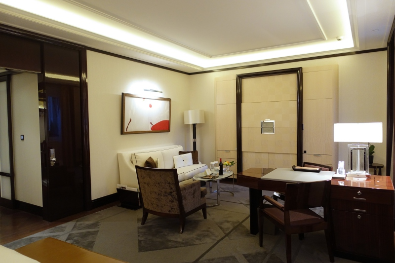 Junior Suite Living Area, The Peninsula Paris Review