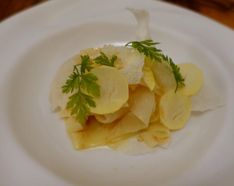 Celery Tagliatelle with Chestnuts, David Toutain Paris Review