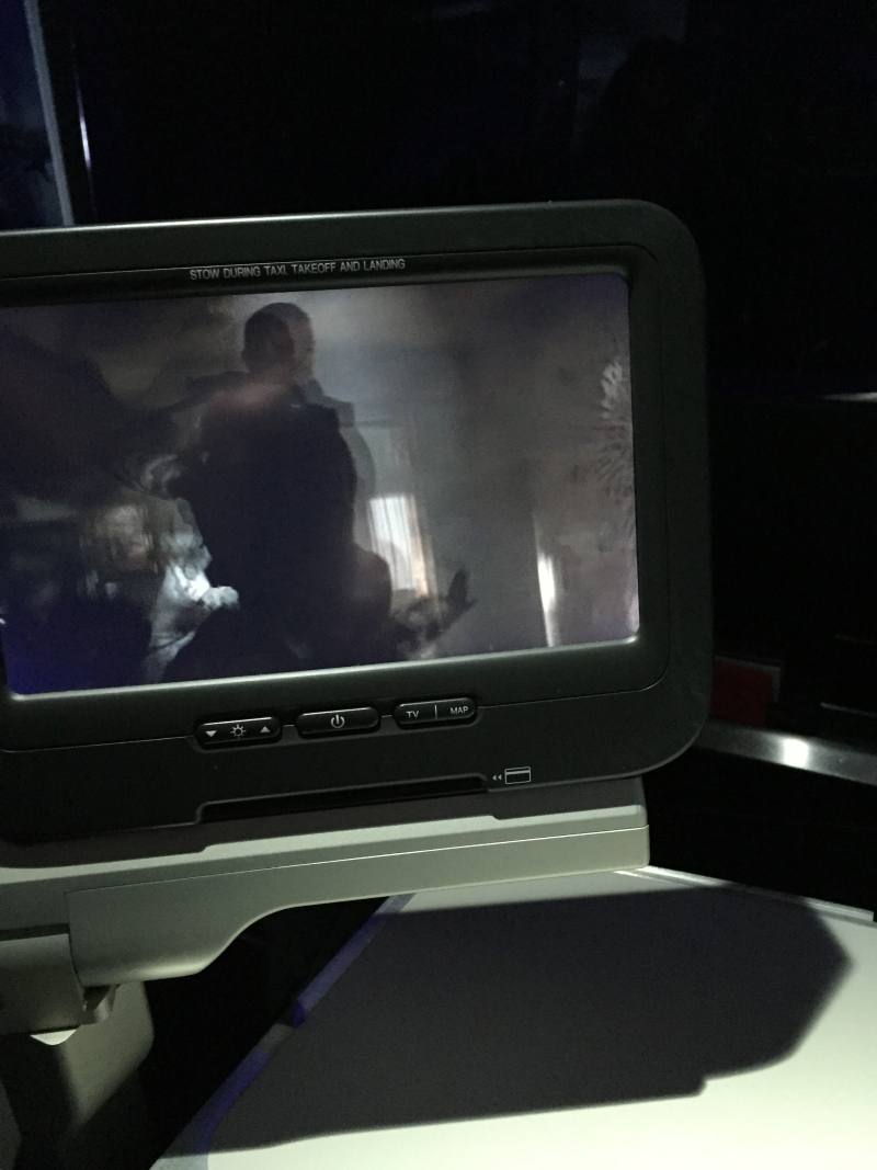 Virgin America First Class Review-IFE Screen
