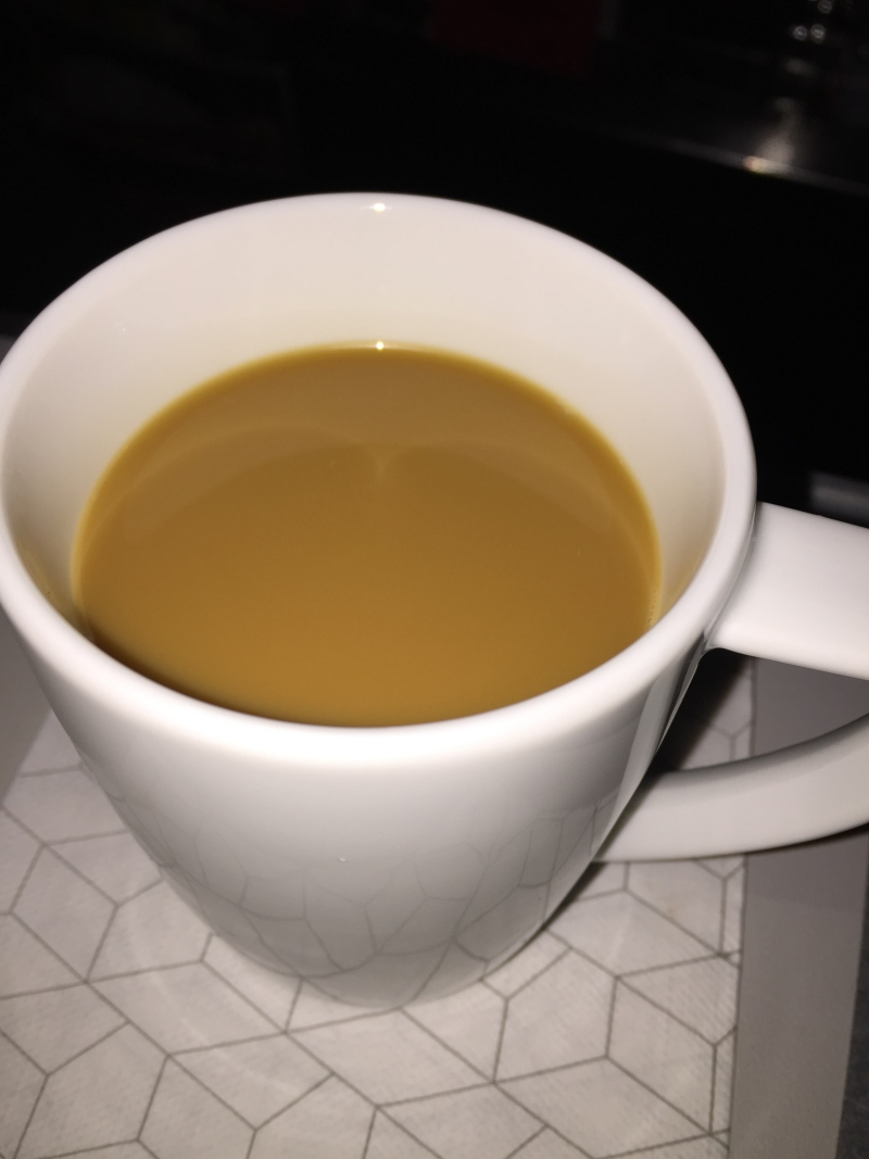 Coffee, Virgin America First Class Review