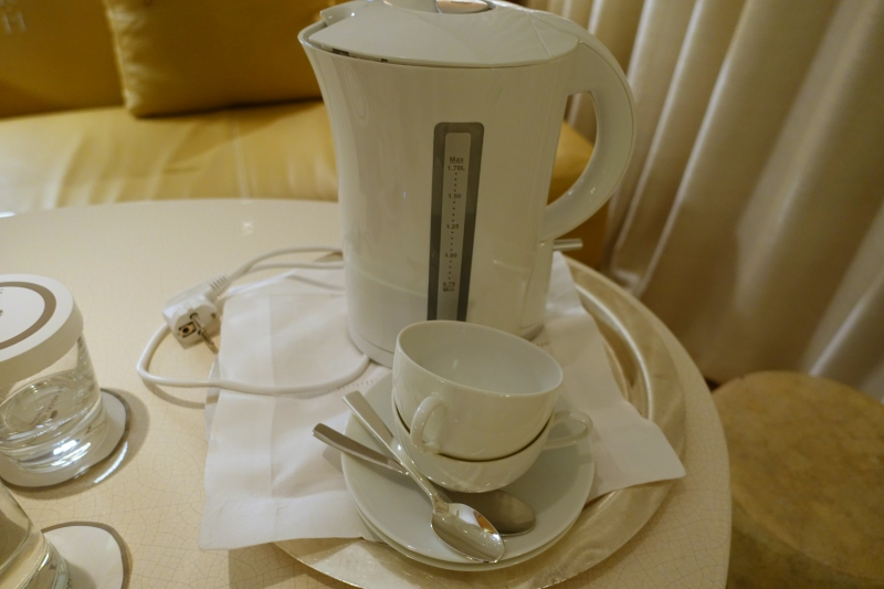 Hot Water Kettle Brought Up, Since None in the Junior Suite