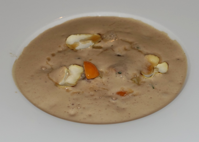 Squid and Rabbit in Chestnut Coffee Foam, L'Oiseau Blanc Paris Review