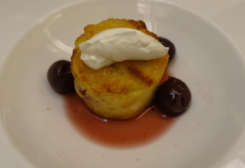 Morello Cherry Brioche Bread Pudding, British Airways Concorde Room Lounge Review