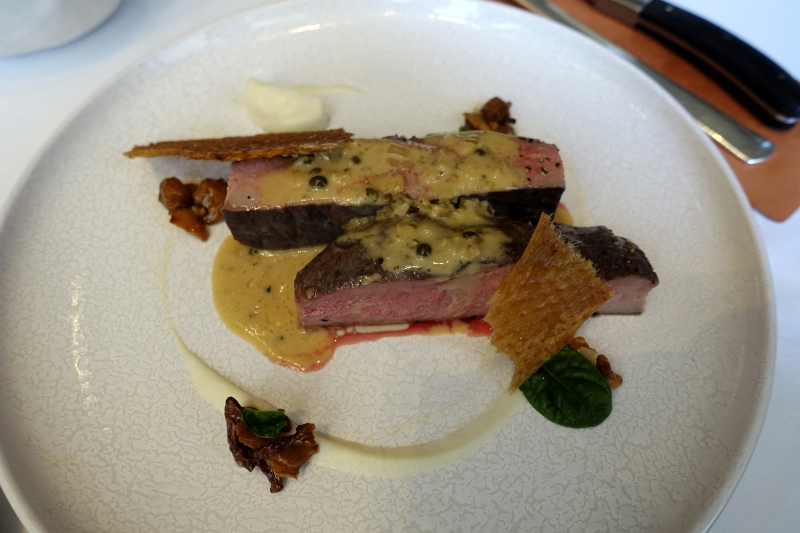 Roasted Duck Breast with Green Peppercorn Sauce, Gabriel Kreuther NYC Review
