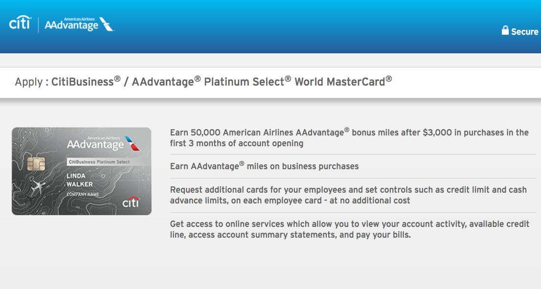 50K CitiBusiness AAdvantage Without 24 Month Restriction
