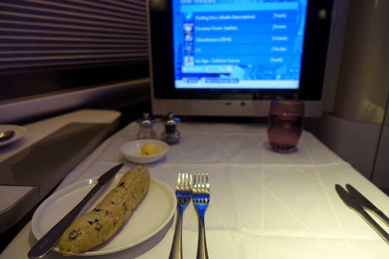 Review: British Airways First Class Table Setting