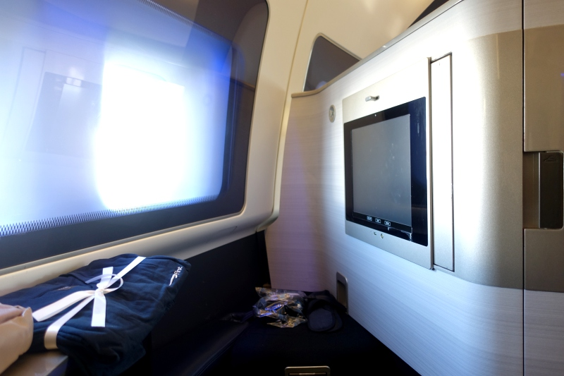 Review: British Airways First Class Seat Ottoman and IFE Screen