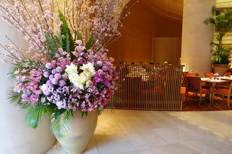 Beautiful Flowers at The Peninsula Tokyo