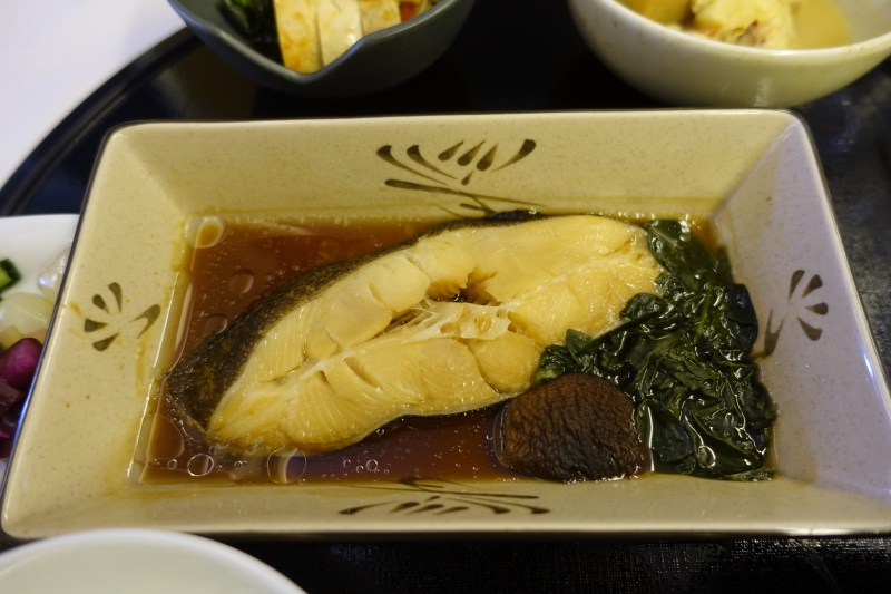 Greenland Halibut in Soy Ginger Sauce, ANA First Class