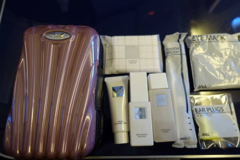 ANA First Class Samsonite Amenity Kit Review