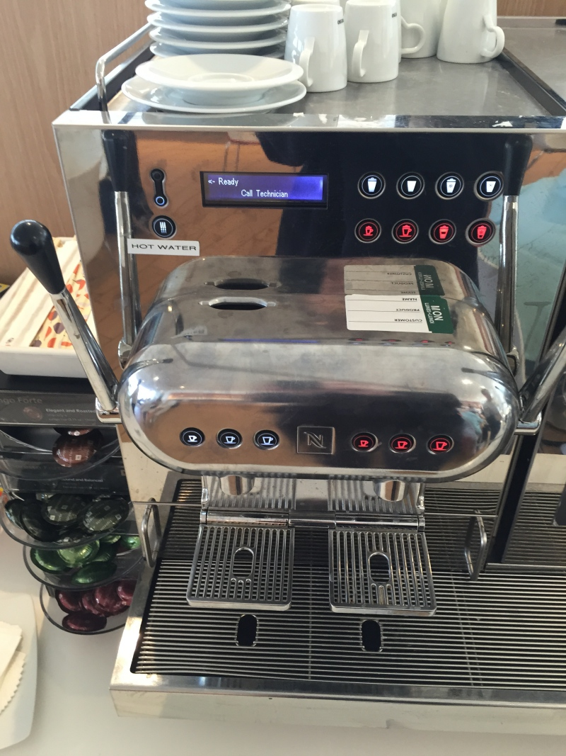 Nespresso Machine, Air France Lounge New York JFK Review