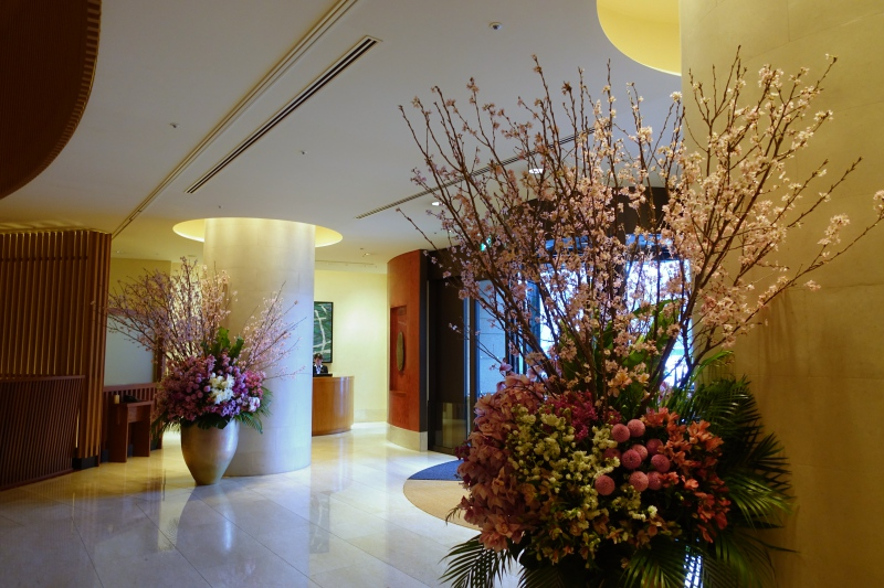 Cherry Blossoms by The Peninsula Tokyo Entrance